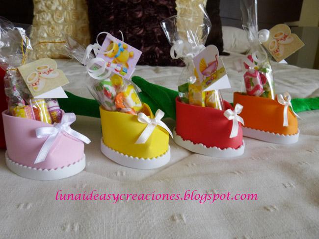 Luna ideas y creaciones zapatitos de colores - Que regalar en un bautizo ...