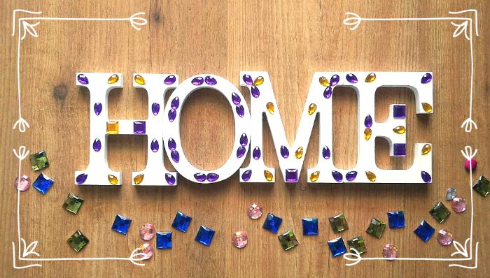 Tachuelas diy co diy decora letras de madera con efecto mosaico - Letras de madera para decorar ...