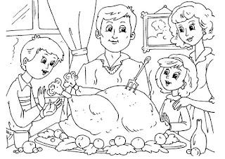 a desenhar Familias felizes e alegres colorir
