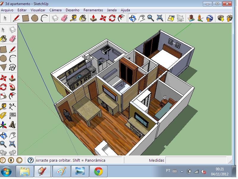 Projetos criados com sketchup 8 novembro 2012 for Programa para construir casas 3d