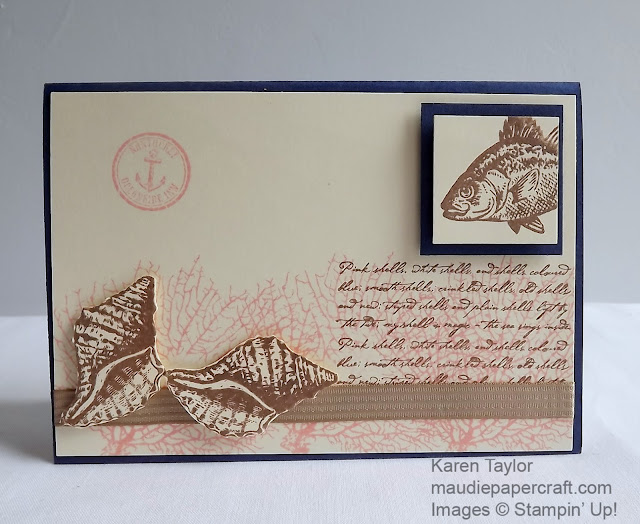 Stampin Up! By the Tide card