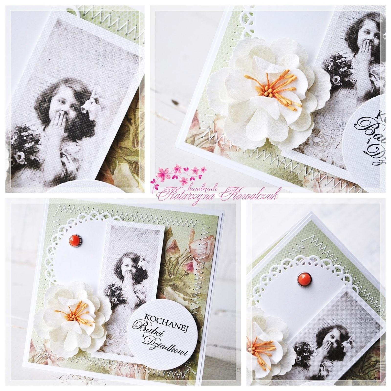 kartka dla babci i dziadka scrapbooking