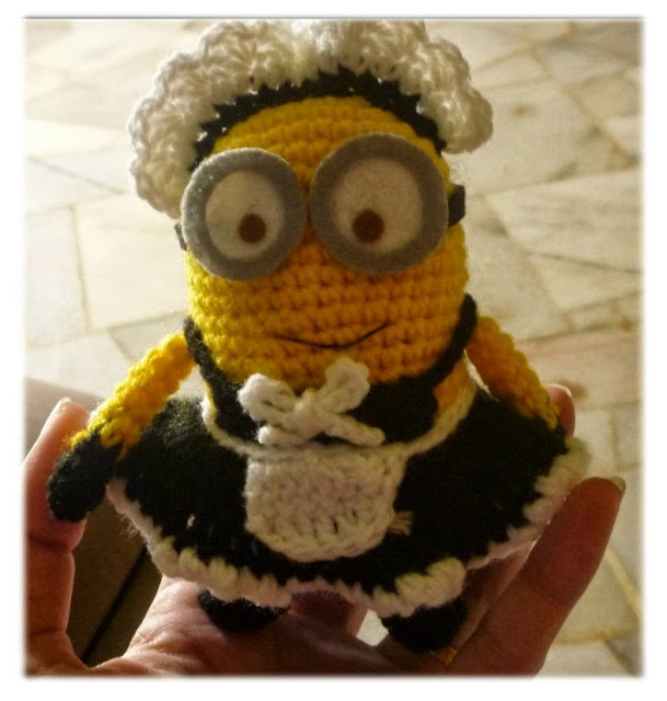 Despicable Me crochet minion amigurumi doll Phil pattern idea gift cute french maid