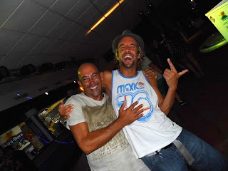 DJs Pablo Escobud and Marco Loco at Playa del Bossa Ibiza