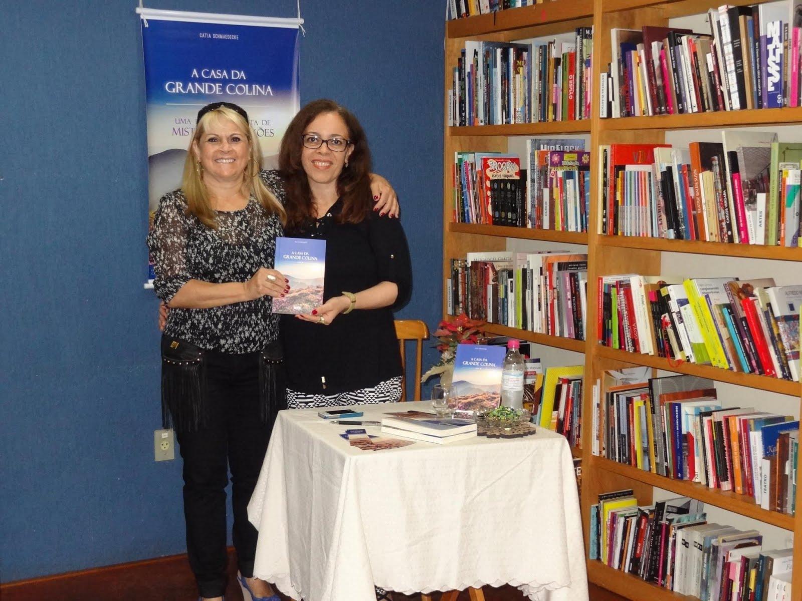 Com a leitora Tania Sheid Oliveira
