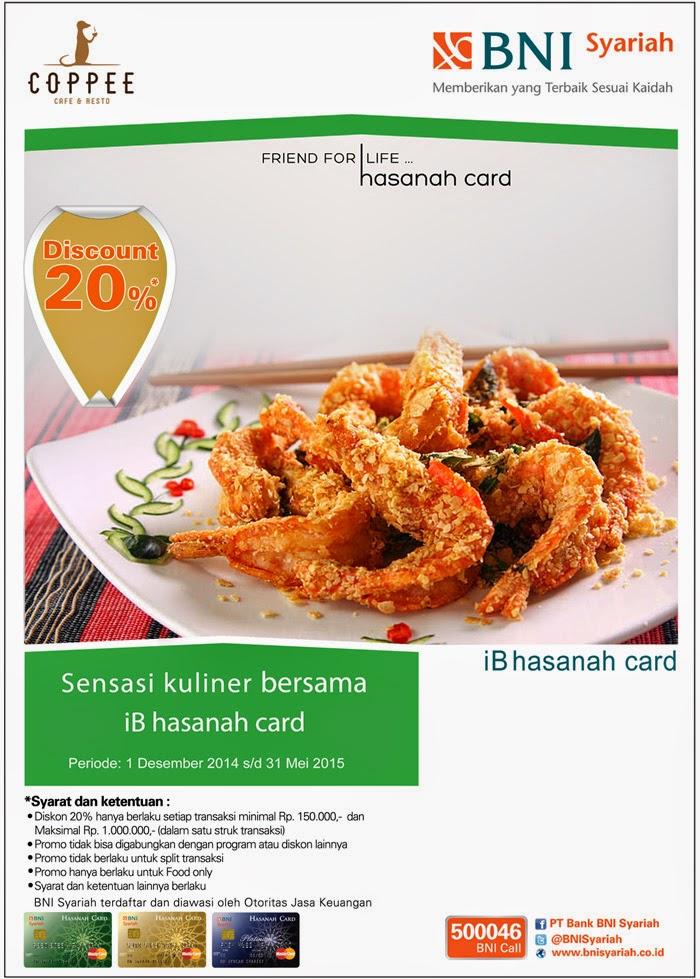Nikmati sensasi kuliner di Coppee cafe & restaurant dengan iB hasanah card
