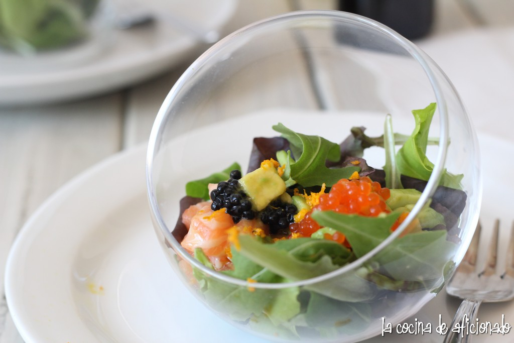 La cocina de aficionado ensalada de salm n fresco y aguacate con vinagreta de naranja - Ensalada con salmon y aguacate ...