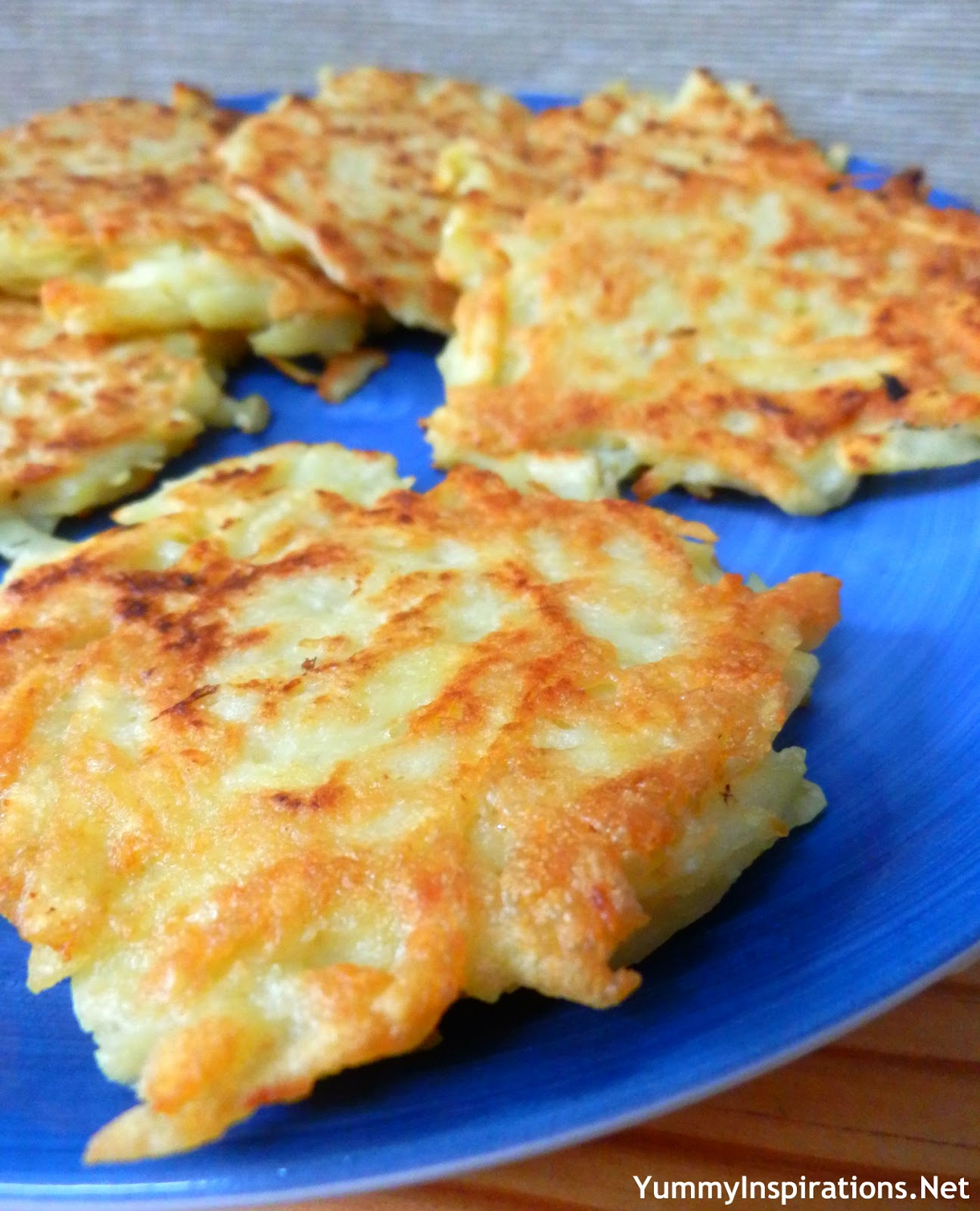 ... and a pancake, but more pancakey, hence the name – Potato Pancakes