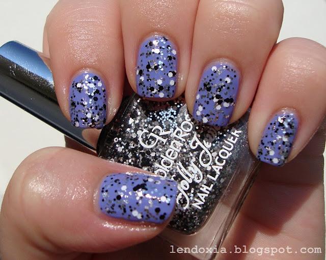crno bijeli glitter za nokte