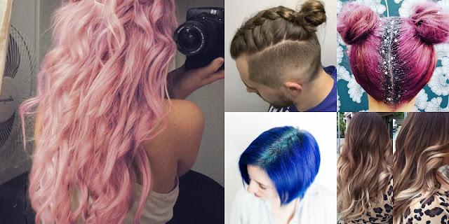 Hair ∆ haar trends van glitterscheiding tot mannenvlechten