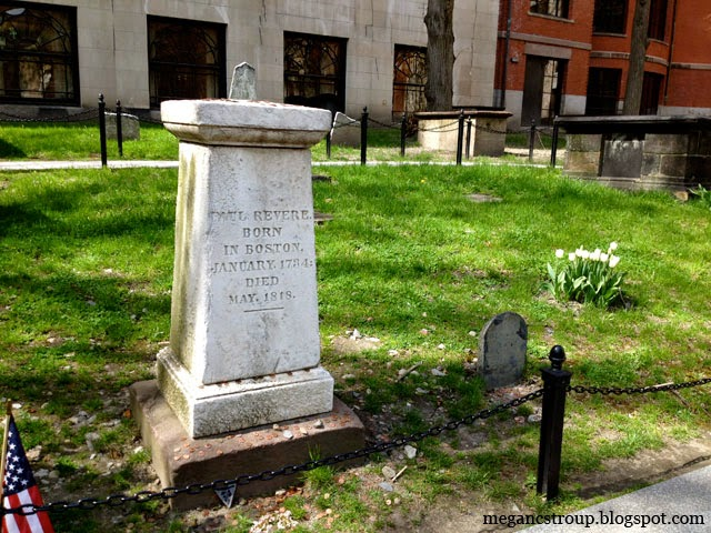 Paul Revere's Tombstone - Boston, Massachusetts, on Semi-Charmed Kind of Life