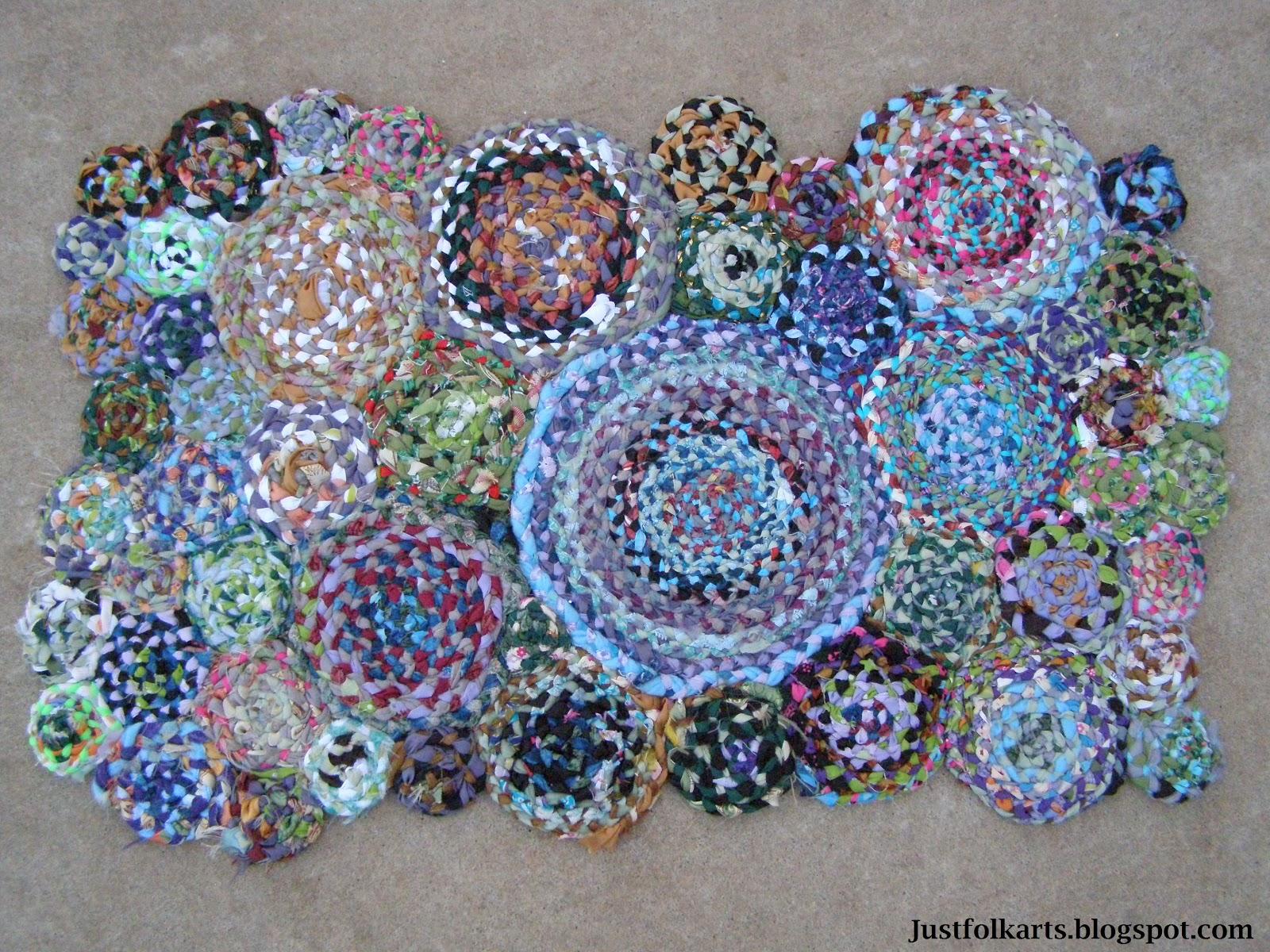 Just Folk Art Americana Rag Rug