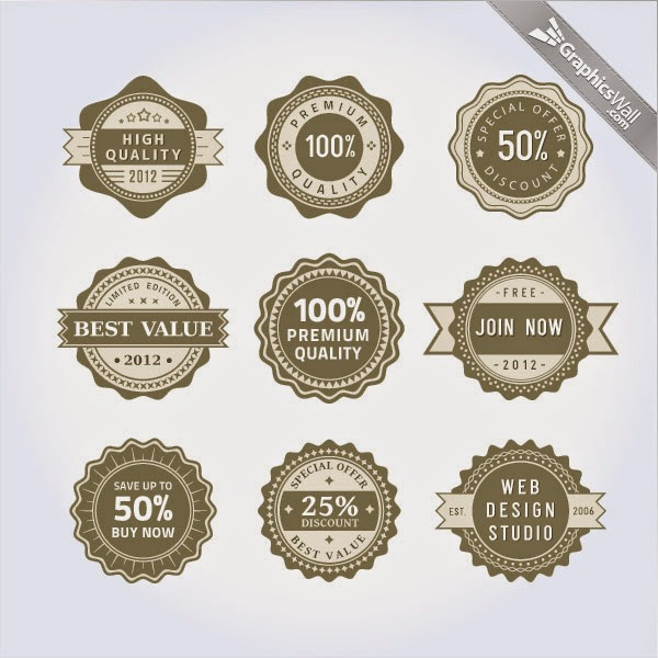 9 Free Vector Badges