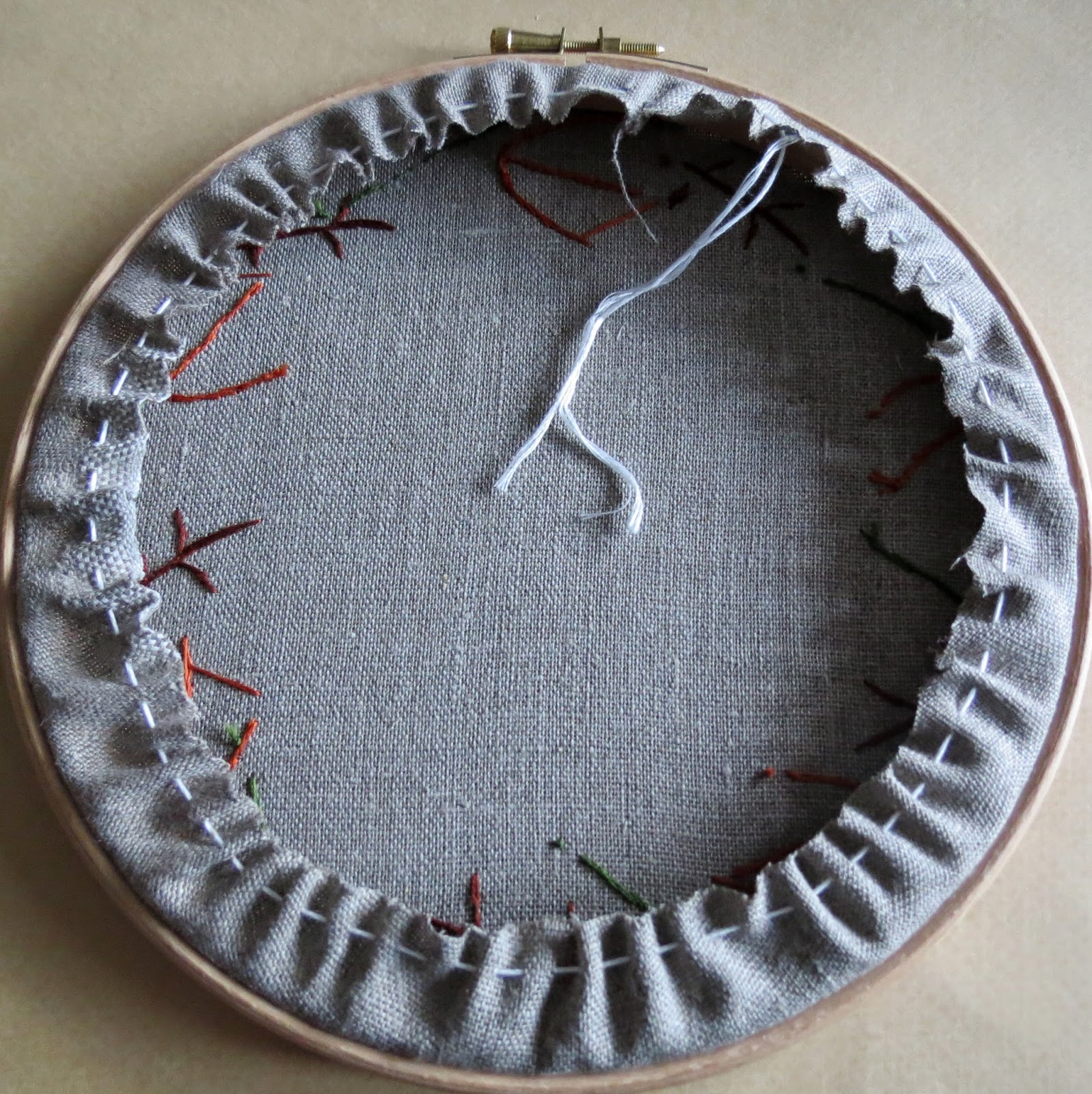 A Little Happy Tutorial ~ How I Back My Embroidery Hoops