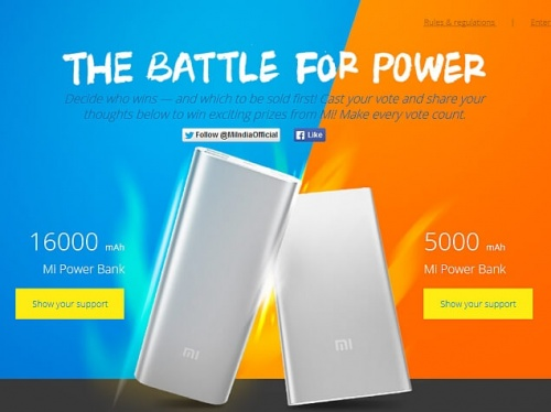 16000mAh and 5000mAh Mi Power Banks to go on sale in India on June 9