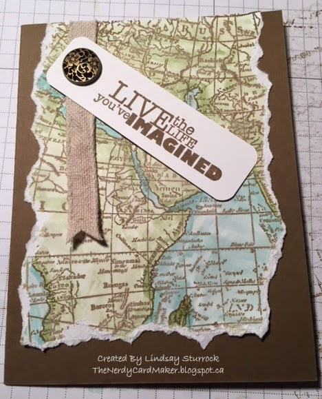 The nerdy card maker world map farewell my inspiration for this card came from stampin with paula but i changed up a few things well now that i think about it i just changed one thing gumiabroncs Gallery