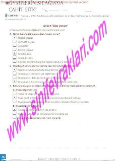 8.Sinif Turkce Enderun Yayinlari Calisma Kitabi Cevaplari Sayfa 26