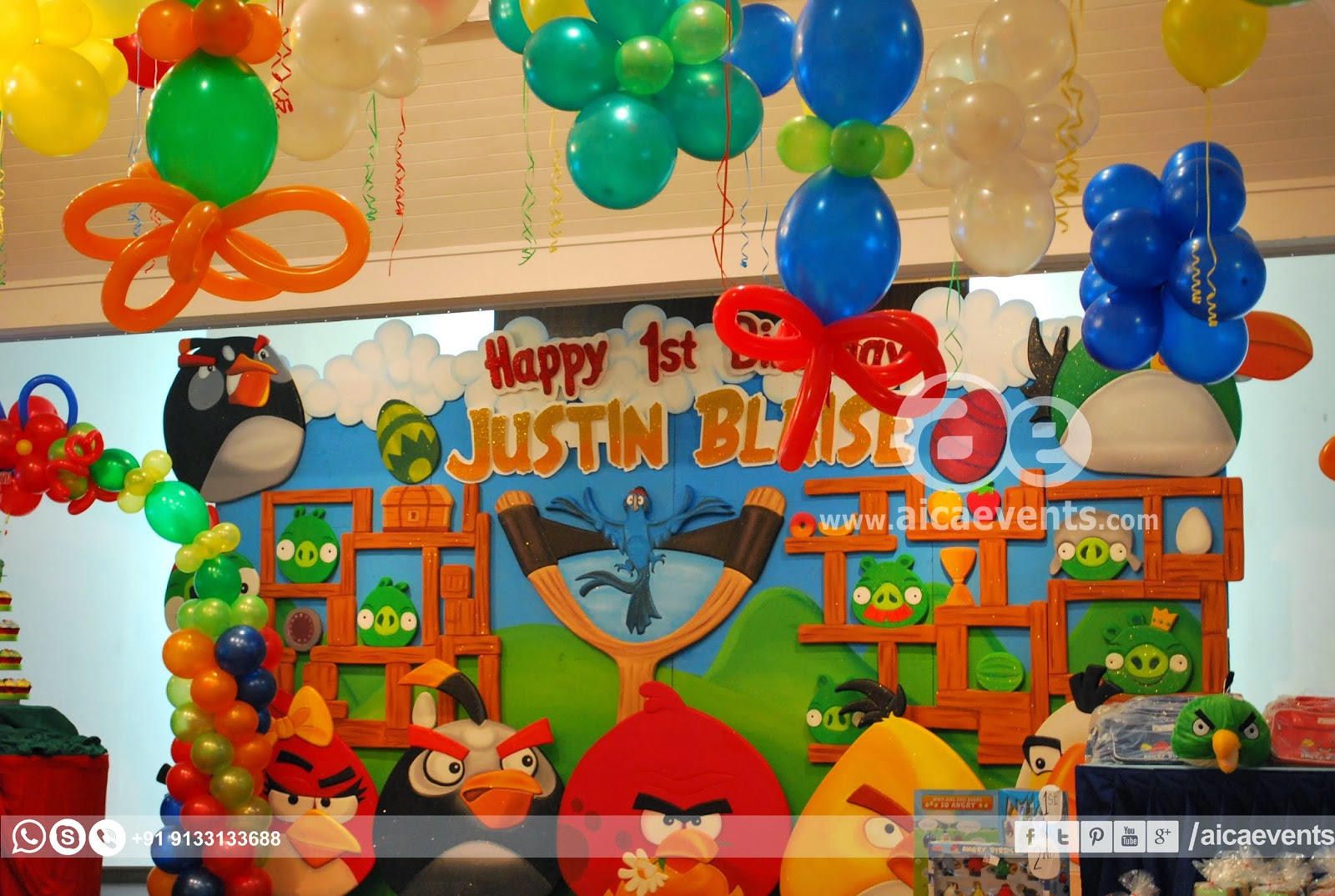 Aicaevents angry bird theme decors for birthday parties for Angry bird birthday decoration ideas