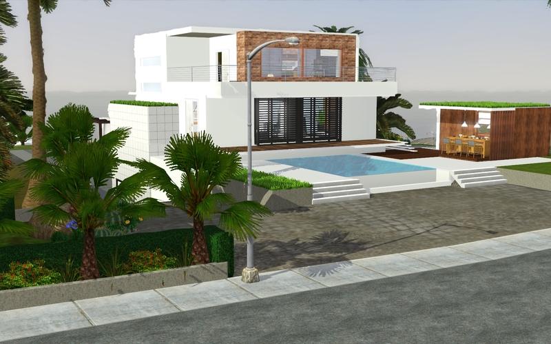 My sims 3 blog modern house by zveki for Modern house sims 3