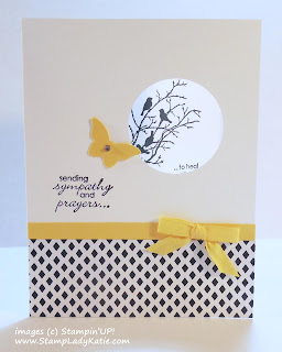 Sympathy Card using Stampin'UP!'s Serene Silhouettes stamp set