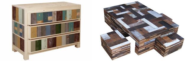Reciclaje de madera espacios en madera for Diseno de muebles reciclados