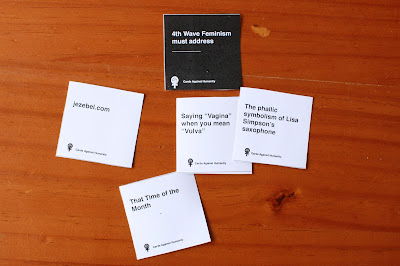 Still not sure if these Feminist Cards Against Humanity cards have too many in-jokes.