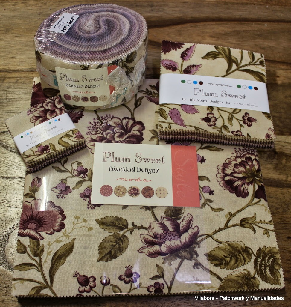 Colección completa Plum Sweet en Jolly Roll, Fat Quarters, Layer Cakes y Fat eighths