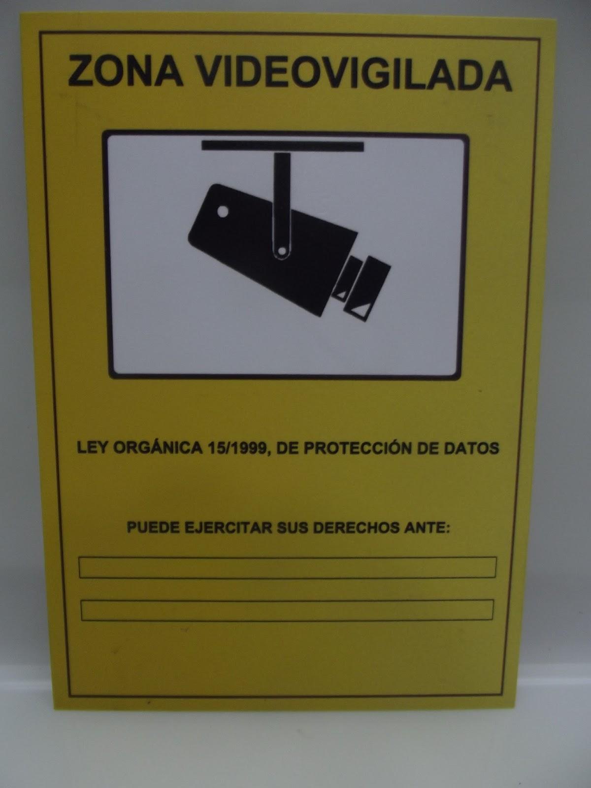Pinea electronica seguridad vigilancia - Cartel de videovigilancia ...