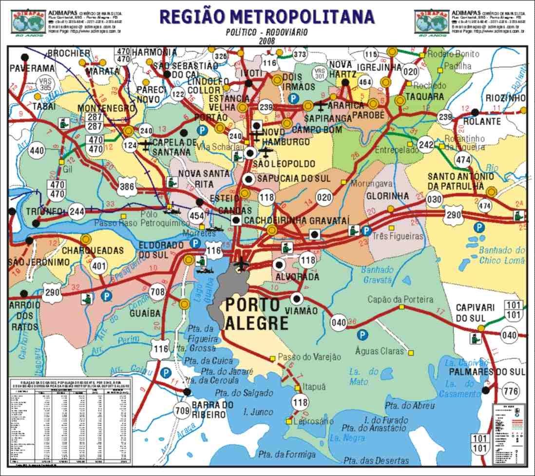 Mapas de Novo Hamburgo  RS  MapasBlog