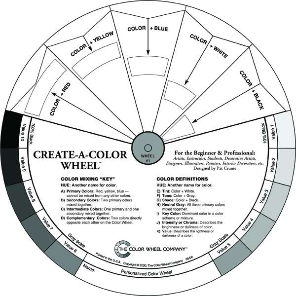 Triadic Color Wheel From The Company