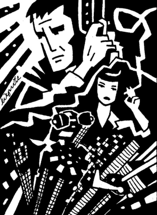 Blade Runner sketch card por myporcelaintears