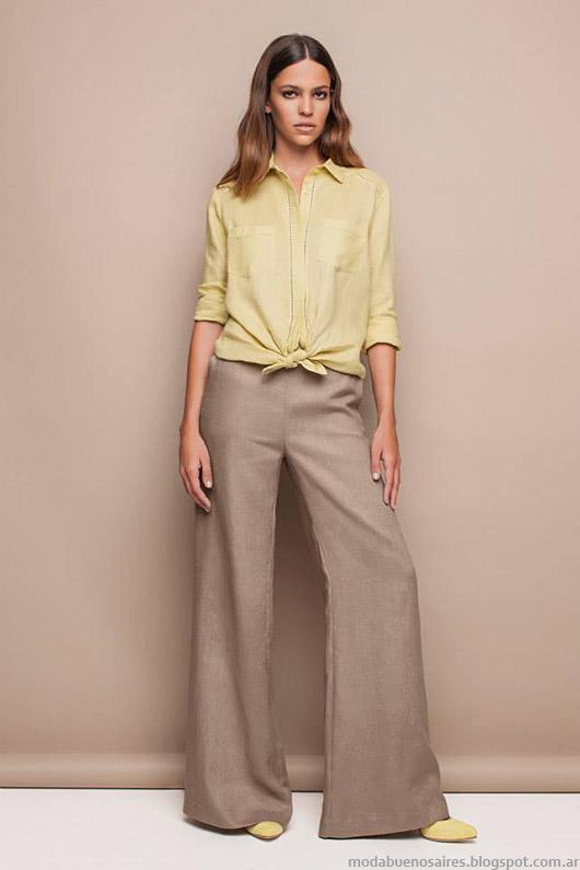 Pantalones oxford verano 2015 Awada. Estilo clasico elegante moda 2015.