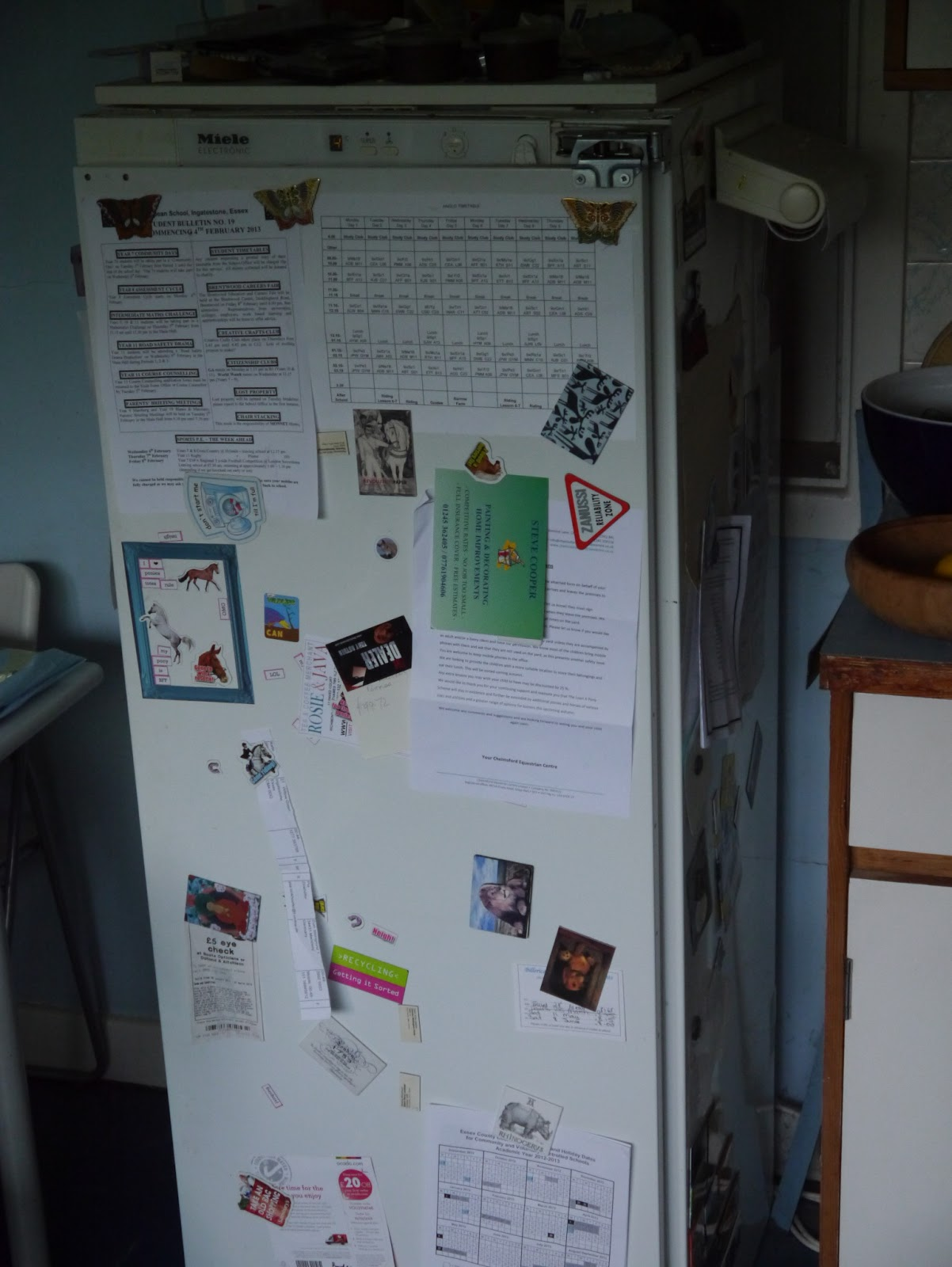 The fridge wall of information