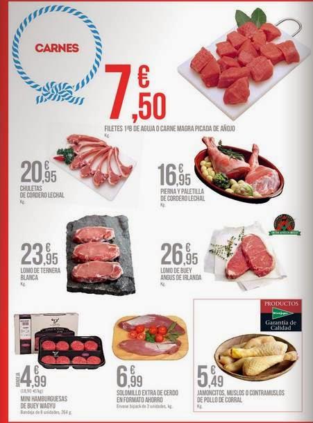 precios de carnes por aniversario 2014 ECI