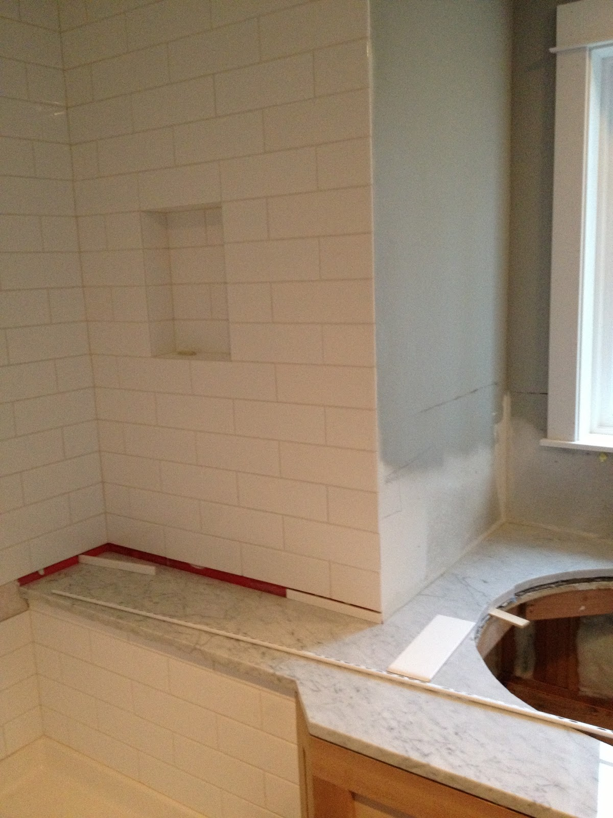 ... home, from the ground up: Progress photos - bathrooms and laundry room