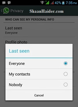 """HOW TO : Hide or Disable """"Last Seen"""" Timestamp on WhatsApp"""