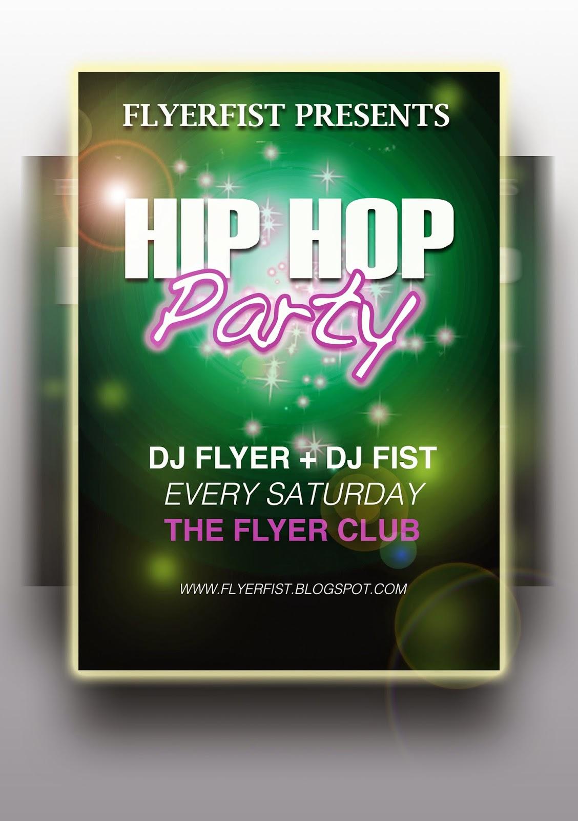 Flyer Fist Hip Hop Flyer Template