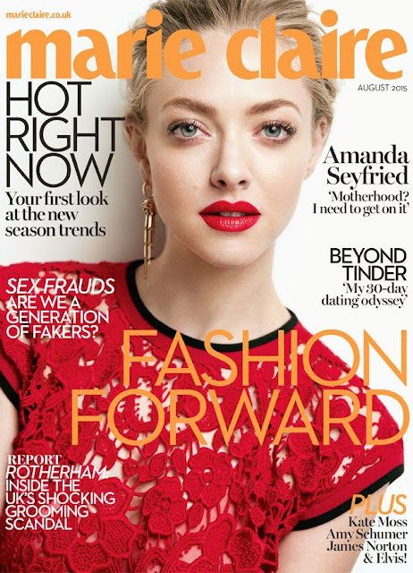 Actress, Singer @ Amanda Seyfried for Marie Claire UK, August 2015