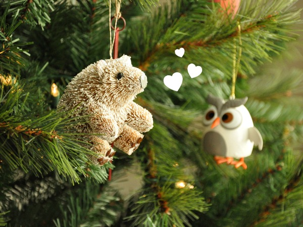 Bear and Owl Christmas Ornaments