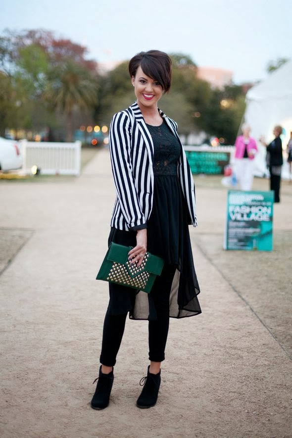 spring fashion charleston southern street style black and write short hair red lips womens fashion