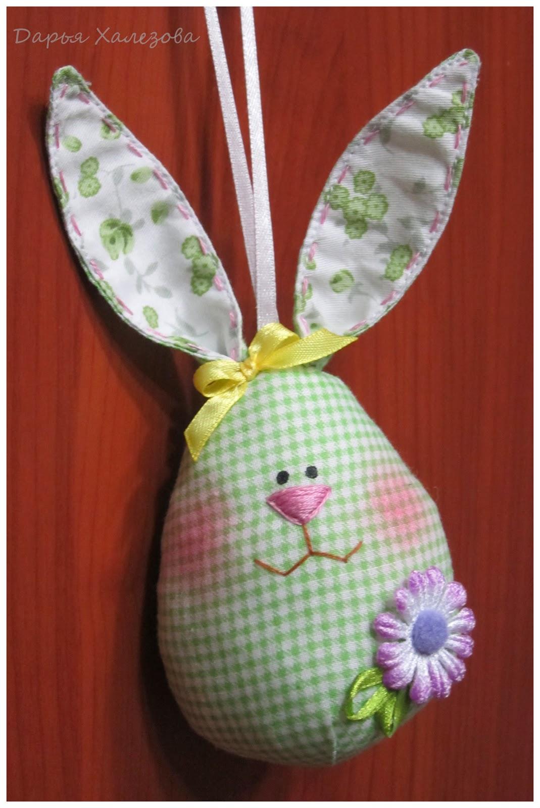 Пасхальные яйца зайцы из ткани своими руками