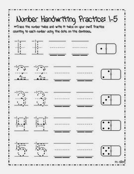 Numbers Handwriting Worksheets
