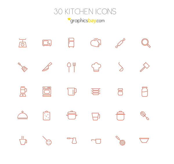 30 icons ( PSD and AI )