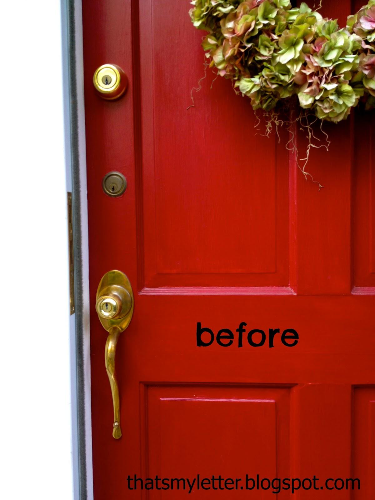 how to clean exterior brass door handles that 39 s my letter front door makeover