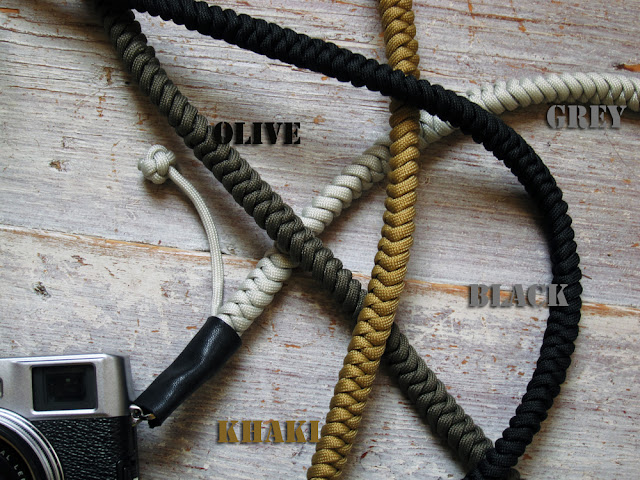 Bespoke camera strap colors by Tim Irving