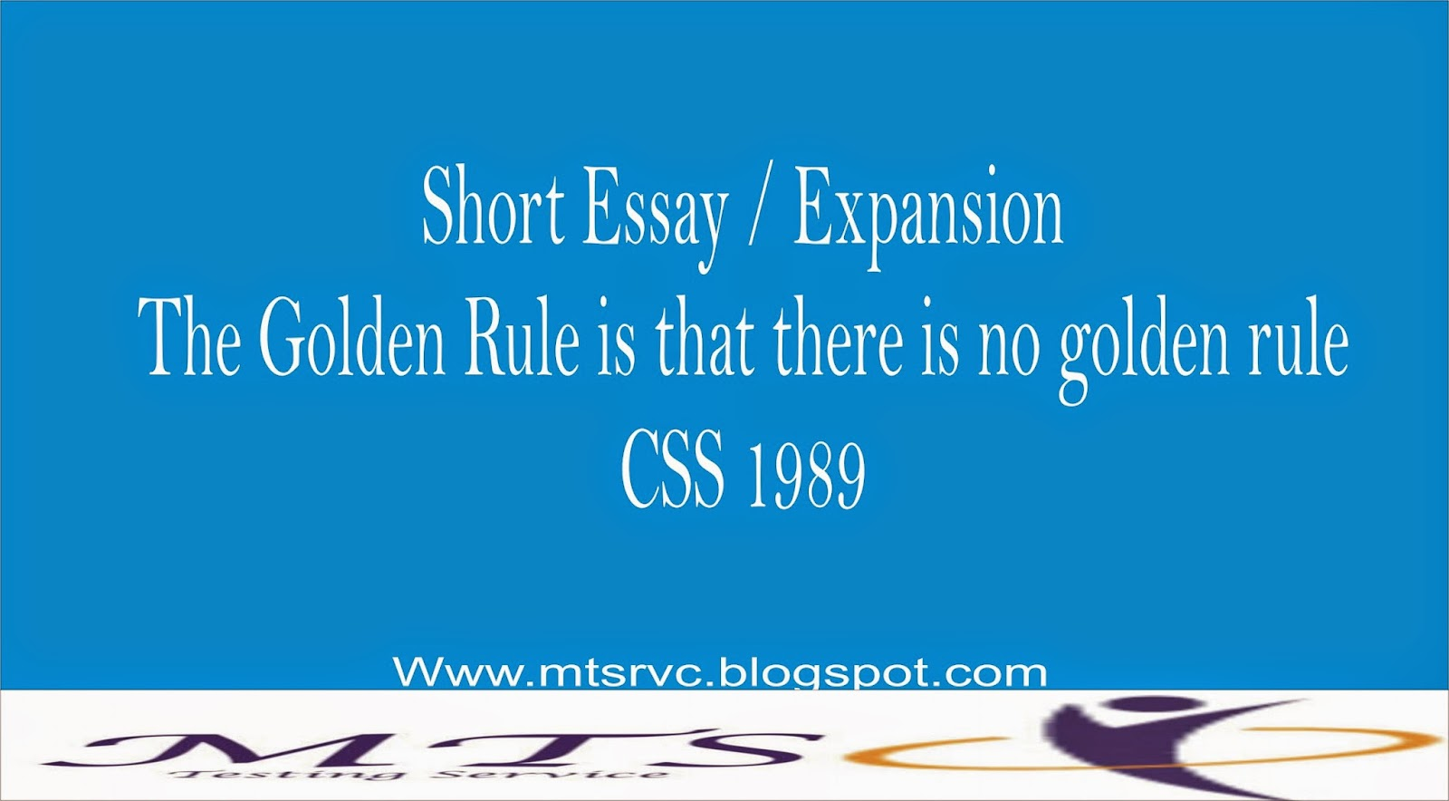 golden rule essay The golden rule: not so golden anymore stephen anderson analyses as he would be analysed for example, in 'a short essay on the golden rule'.