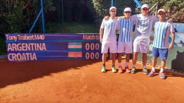 ITF Young Seniors Teams (M40) Umag Croacia 2016. Tony Trabert Cup-TRIUNFO ARGENTINO