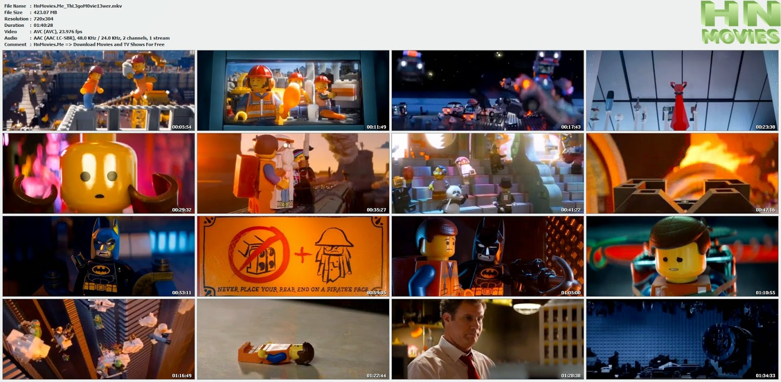 movie screenshot of The Lego Movie fdmovie.com