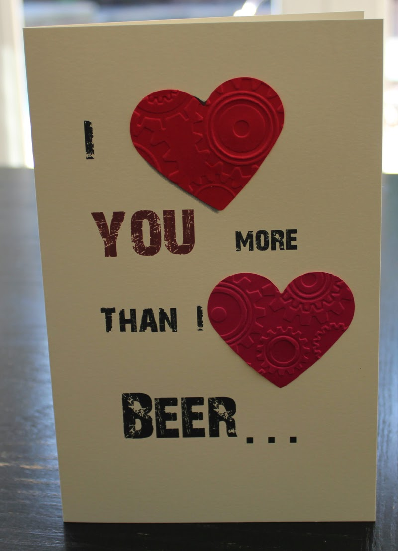 Greeting Card - I love you more than beer