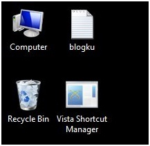 Cara menghilangkan tanda panah shortcut icon di windows 7